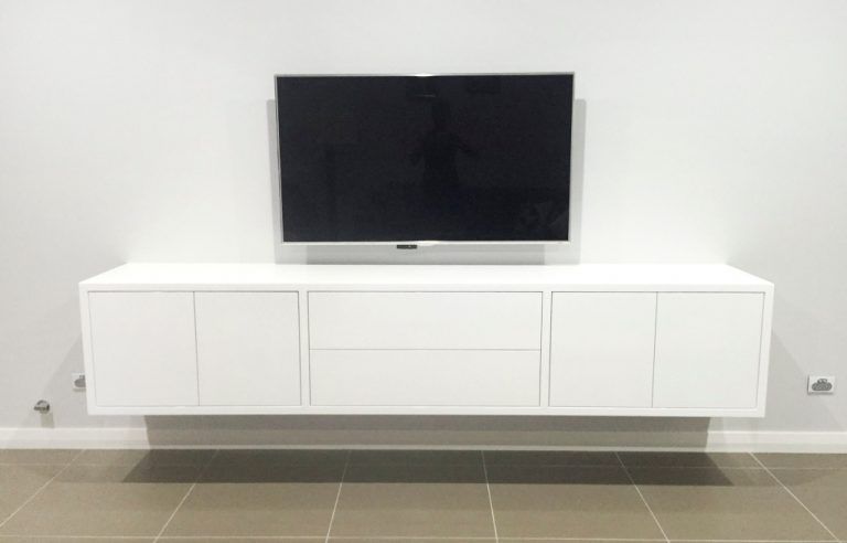 Media cabinet by DRK Kitchens